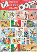 75 DIFF. FOOTBALL STAMPS 15X21 CM