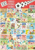 100 DIFF. FOOTBALL STAMPS 21X30 CM