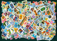 France - 600 cancelled stamps