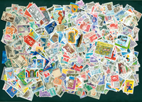 France - 1000 cancelled stamps