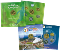 Korea - VM-møntsæt fra 2001 og 2002