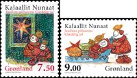 Grønland - Julen 2011 - Postfrisk sæt 2v