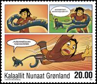 Grønland - Tegneserie III - Postfrisk frimærke