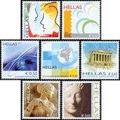 Grækenland - Græsk kunst - Postfrisk sæt 7v