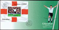 Gibilterra - Europei di calcio 2004 - fogl. su busta primo giorno