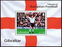 Gibraltar - Fodbold EM'04 - Postfrisk miniark