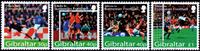 Gibraltar - Fodbold EM'04 - Postfrisk sæt 4v