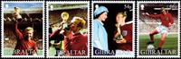 Gibraltar - Fodbold VM - Postfrisk sæt 4v