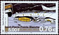 St. Pierre et Miquelon - Åbning af lufthavn - Postfrisk frimærke
