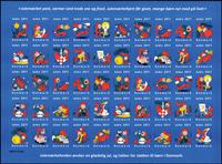 Danemark - Feuille de vignettes de Noël 2011 - Feuillet adhésif neuf