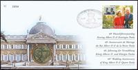 Belgien - Kongelig bryllupsdag - Flot møntbrev