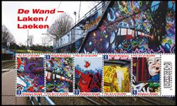 Belgien - Graffiti - Postfrisk miniark
