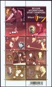 Belgien - Billard - Postfrisk miniark