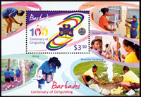 Barbados - Pigespejdere - Postfrisk miniark