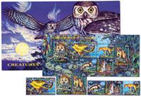 Australia - Night animals - Set and souvenir sheet in a folder