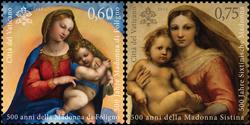 Vatikanet - Sixtinsk Madonna - Postfrisk sæt 2v