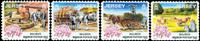 Jersey - Heste - Postfrisk sæt 4v