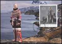 Greenland - Danish Queen 40 years reign - Maxi Cards