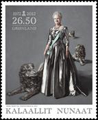 Greenland - Danish Queen 40 years reign - Mint stamp