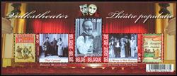 Belgien - Teater - Postfrisk miniark