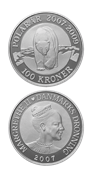 100 kr. sølvmønt - Polarmønt isbjørn - Uden abonnement