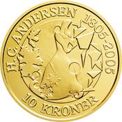 Andersen Monnaie or 10 DKK *La Reine des Neiges*