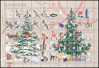 Denmark - Christmas sheet 1961