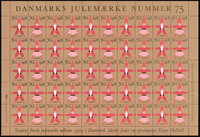 Denmark - Christmas sheet 1978