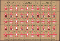Denmark - Christmas sheet 1982 - With 1978 overprint