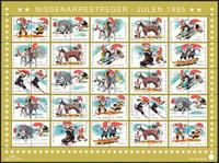 Danmark - Julemærkeark 1995