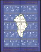 Grønland Julemærkeark 1984