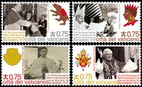 Vatikanet - Pavens præstegerning - Postfrisk sæt 4v