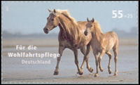 Tyskland - Heste - Postfrisk selvkl. frimærke