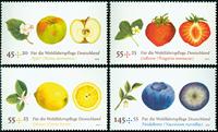 Tyskland - Frugter og bær - Postfrisk sæt 4v