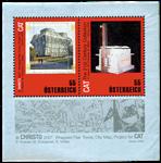 Østrig - Christo, arkitektur - Postfrisk miniark