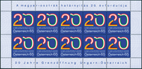 Austria - 20 years opening frontiers - Mint sheet 10v