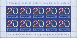 Østrig - 20-året for grænseåbningen - Postfrisk ark