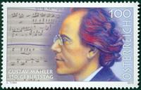 Østrig - Gustav Mahler - Postfrisk frimærke