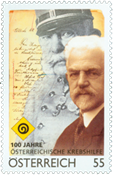 Austria - 100 years of cancer charity - Mint stamp