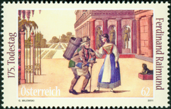 Østrig - Ferdinan Raimund - Postfrisk frimærke