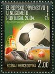 Bosnien - Fodboldmesterskab - Postfrisk frimærke
