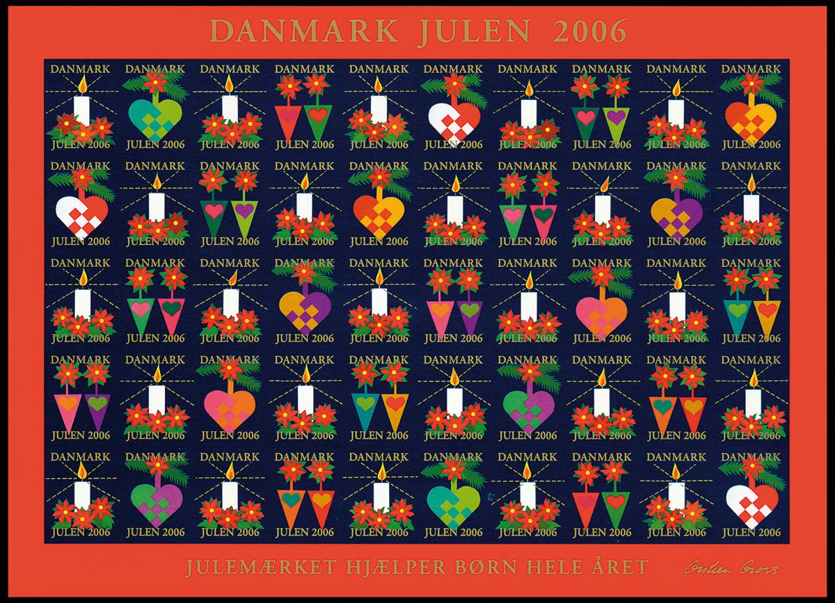Danmark - Julemærkeark 2006 - Julemærkeark