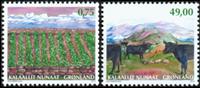 Grønland - Landbrug - Postfrisk sæt 2v