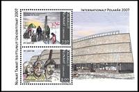 Grønland - Polar år - Postfrisk miniark