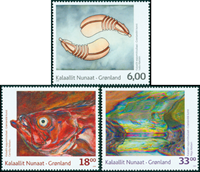 Grønland - Moderne Kunst - Postfrisk sæt 3v