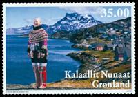 Grønland - Dr. Margrethe 70 år - Postfrisk frimærke