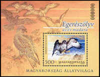 Hungary - Birds - Mint souvenir sheet