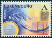 Luxembourg - Euro mønt - Postfrisk frimærke