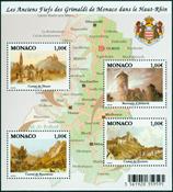 Monaco - Castles of the Grimaldi family - Mint souvenir sheet