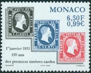 Monaco - 150 året for frimærker - Postfrisk frimærke